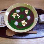 ぎをん為治郎 - 抹茶仕立の冷しるこ 800円