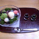ぎをん為治郎 - 抹茶あんみつ 800円