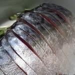 なぎ - しめ鯖のアップ
