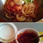 鶴橋ポジャンマチャ - 同じく「辛」マークのついている「ピビン麺」(700円)。