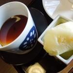 日本料理 鎌倉山倶楽部 - プリンと柚子のシャーベット