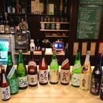 焼酎ぎゃらりぃ さわ - 旬の地酒は20種類以上常備(順次入れ替え制)