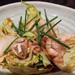 舞桜 - 河豚と白菜の和え物
