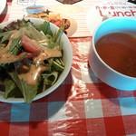 Wine Bar TeRRa - ランチのサラダとスープ