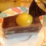 パティスリー ラズリー - 料理写真:チョコと栗のケーキ