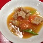 燕慶園 - トマトと豚肉の塩味