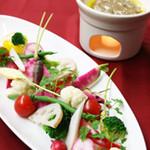 アクア ヴィーノ - 新鮮な季節野菜のバーニャカウダ