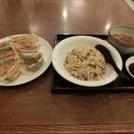 ラーメンいりき - 餃子大+ミニ炒飯(470+350)H25.12