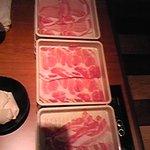 きんのぶた - 最初来た豚肉