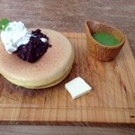 嵯峨野湯 - パンケーキ(抹茶チョコ小豆)