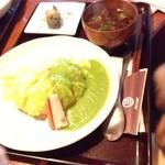 marusan&wacca - ジャコと山椒のオムライスグリンピースソース
