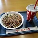 焼きたて屋 - お好み焼き☆ミックス&アイスコーヒー☆600円(2013/12)