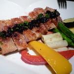 ブラッチュリア 炭味坐 - 宮崎鶏の香味焼き赤ワインソース