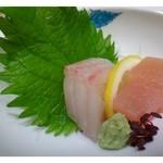 博多 竹彩 - ◆お刺身・・鯛とヨコワ(だったような)