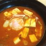 松屋 - 時間がなく、松屋で豆腐キムチチゲ定食
