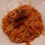 ローマステーション 鈴川店 - 茄子とベーコンのアマトリチャーナ、トマトソース