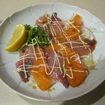 さがのや - 海の幸カルパッチョ(500円)