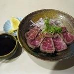 さがのや - 黒毛和牛たたき(500円)