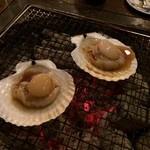 かき焼き小屋 一 - ホタテ焼き