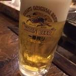 かき焼き小屋 一 - 生ビール