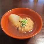 22965545 - 蕎麦入りのがんもどきと三浦大根の煮物