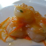 アルブォニッシモ - 前菜の小海老のニンニクオイル和え