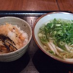 さぬきうどん 釜八 - かき揚丼(08.6)