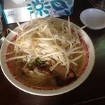 麺丸 - 塩ラーメン650円大盛り100円もやし30円