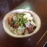 麺丸 - うま肉ごはん350円