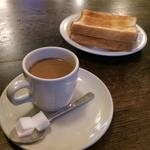 進々堂 - カフェ(ミルク入)とマーマレードトースト