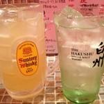 おばんざいバー 博多漁家 しらすくじら - 本日三回目の乾杯〜!