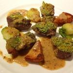 ハシモト - 子羊モモ肉のロースト マスタードソース