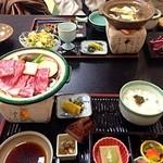 料理旅館 枕川楼 - 丹波牛の陶板焼定食