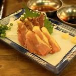鳥番長 - 2013.12 地鶏のたたき(714円)