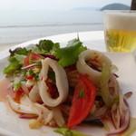 ドゥワンチャン - 料理写真:旬のヤリイカを使ったサラダ