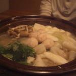博多 表邸 - 河豚と季節野菜の冬至鍋~京湯葉、蟹真丈、野菜色々~