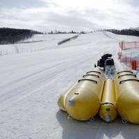旭山雪の村 - 冬の遊園地旭山雪の村バナナボート