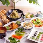森カフェ - ディナーコースにも野菜がたっぷり♪(8名様以上予約可)