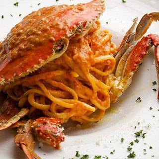 限定5食!渡り蟹のトマトクリームリングイネ