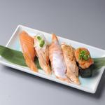 大鮮寿司 - 料理写真:サーモン5種盛り