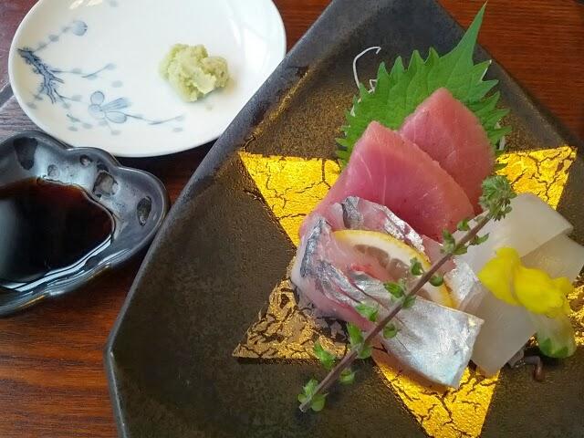 日本料理 梅林 - (2013・12)お造り(マグロ・アジ・イカ)