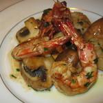 イタリアーナ エノテカ ドォーロ - 海老とマッシュルームのソテー