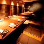 PRIVATE DINING 点 - 掘りごたつ席【KOAGARI-こあがり】 10名様と14名様の2部屋。最大26名様のほりごたつ個室です