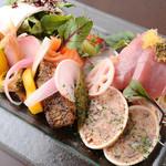 トラットリア シェ ラパン - お得な前菜盛り合わせ