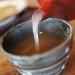 蕎麦工房 まつ田 - 蕎麦湯はとろとろ、ここのはうまい。