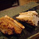 鮨 今井 - optio A30で撮影。穴子(塩と煮つめ)。