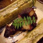 鮨 今井 - optio A30で撮影。蛸のさくら煮。