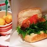 ライチャス - 「ビール煮ポークとマッシュポテトサンド+揚げニョッキセット」