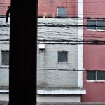 悟空茶荘 - 古い硝子に滲む風景