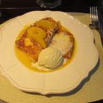 23003859 - フレンチトースト オレンジシュゼットソース バニラアイス添え